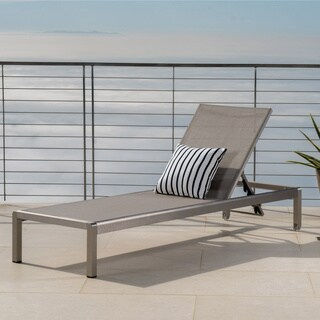 Christopher Knight Home Cape Coral Outdoor Aluminum Adjustable Chaise Lounge