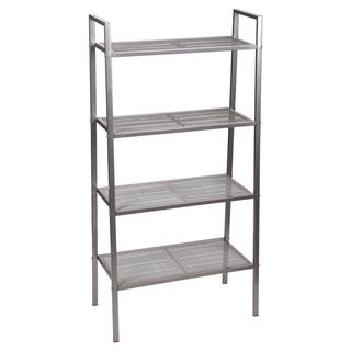 Household Essentials Free-Standing 4-Tier Storage Rack, Gunmetal