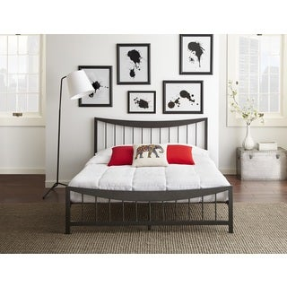 Sleep Sync Lake Forest Textured Metal Platform Bed