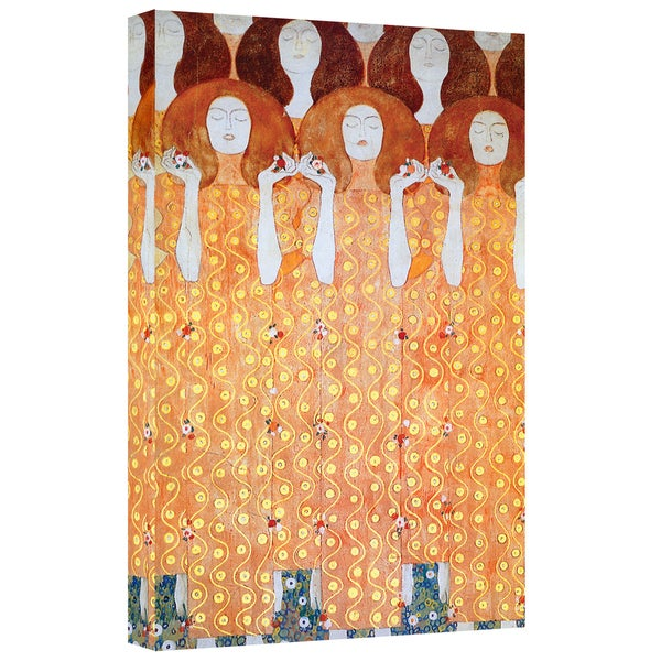 ArtWall 'Gustav Klimt's The Black Feather Hat' Gallery Wrapped Canvas 22114128