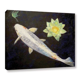 Maxwell dickson 39 koi fish 39 canvas wall art 13936977 for Purple koi fish for sale