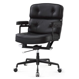 M340 Black Italian Leather Office Chair