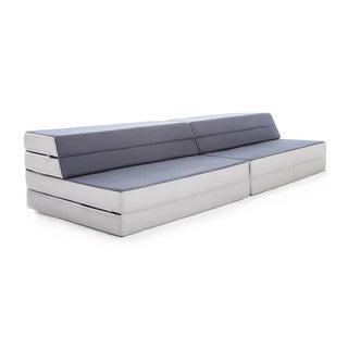 LUCID Convertible Folding Foam Sofa Bed - Grey