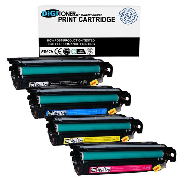 TonerPlusUSA 4Pk Compatible HP LaserJet 647A CE260A CE261A CE262A CE263A KCYM Toner Cartridge 1 SET For CP4025 CP4525 CM4540