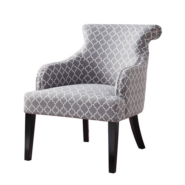 Madison Park Jayla Grey Rollback Accent Chair