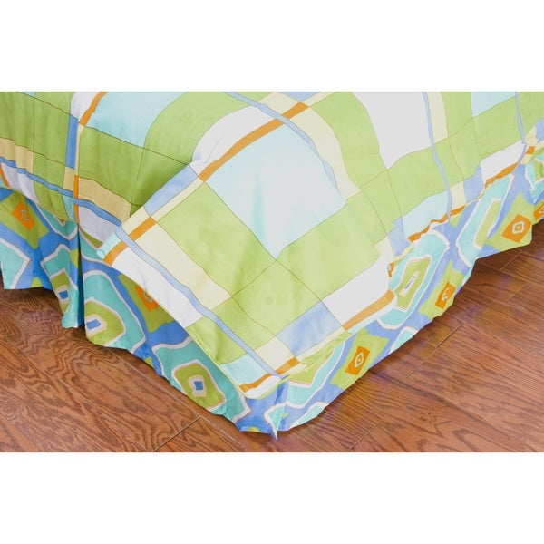 Full Sized Only Plaid Bed Skirt Laura Fairby by Rizzy Home