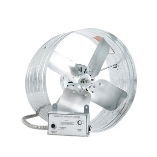 iLIVING Automatic Gable Mount Attic Ventilator Fan with Adjustable Thermostat and Humidistat