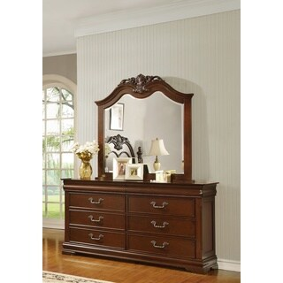 LYKE Home Ceara Dresser and Mirror Set