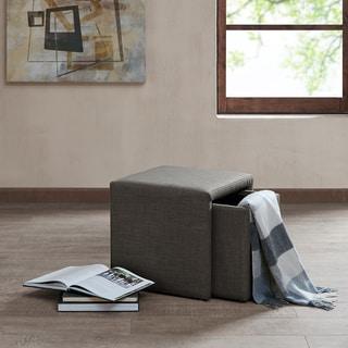 Madison Park Calvi Charcoal Grey Storage Accent Table