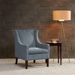 Madison Park Preston Steele Blue Wing Chair