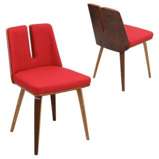 Varzi Mid Century Modern Walnut Chair