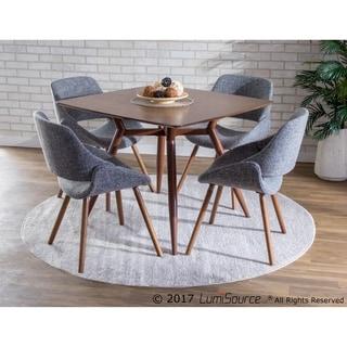 Pair of Fabrico Mid Century Modern Chairs in Walnut Wood