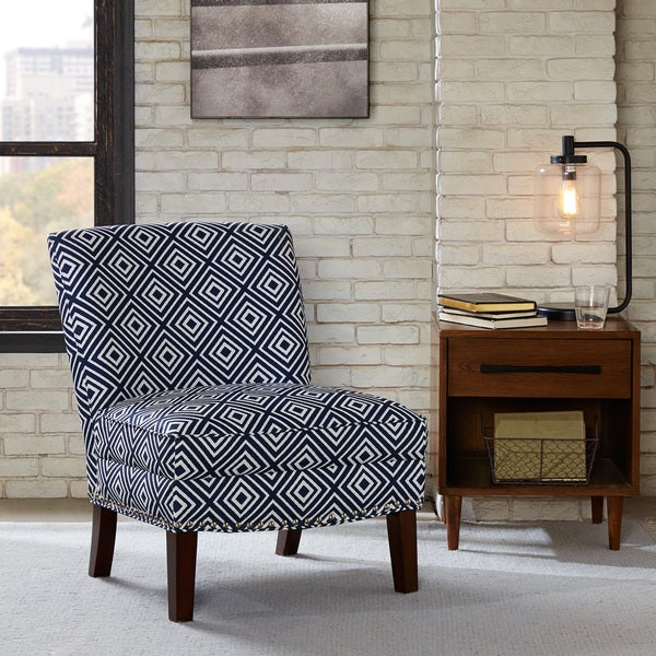 Madison Park Alex Slipper Accent Chair--Navy