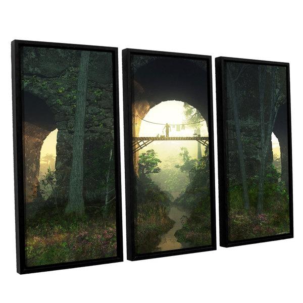 ArtWall 'Cynthia Decker'Bridge Under The Bridge' 3-piece Floater Framed Canvas Set