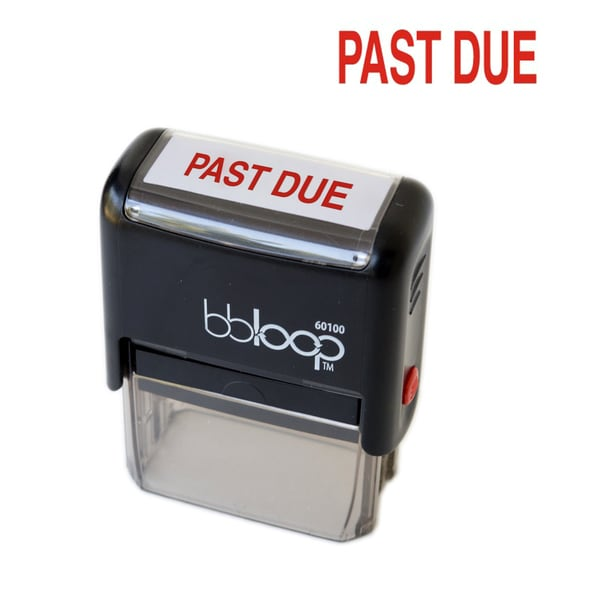 Past Due Rectangular Stamp