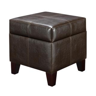 Dorel Living Small Espresso Storage Ottoman