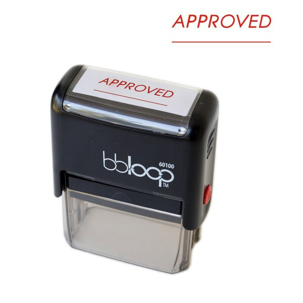 Approved Rectangular Stamp