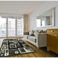 LYKE Home Contemporary Grey Area Rug (8' x 10')