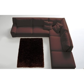 LYKE Home Contemporary Black Handmade Shag Area Rug (8' x 11')