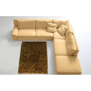 LYKE Home Contemporary Brown Handmade Shag Area Rug (8' x 11')