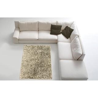 LYKE Home Contemporary Silver Handmade Shag Area Rug (8' x 11')