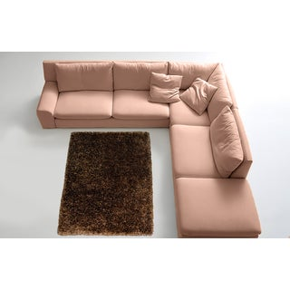 LYKE Home Contemporary Brown Handmade Shag Area Rug (9' x 12')