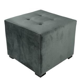 MJL Furniture Merton 4-button Square Mystere Upholstered Ottoman