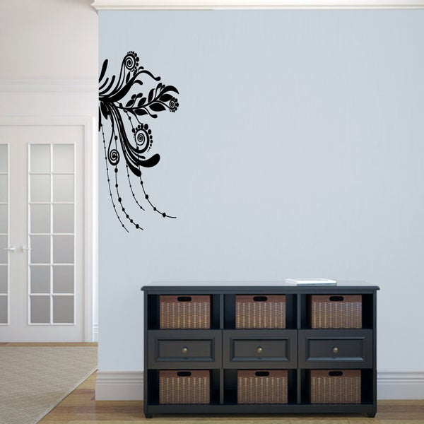 Corner Flourish Medium Wall Decal