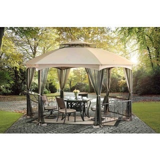Wicker Screen 10' x 12' Gazebo