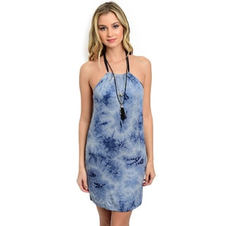 Shop the Trends Women's Tie-Dye Sleeveless Short Dress