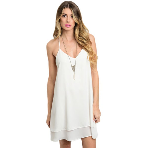 Shop the Trends Women's Spaghetti Strap Woven Dress