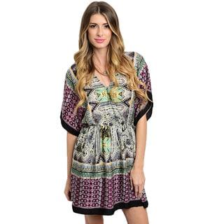 Shop the Trends Women's Flutter Sleeve Short Dress