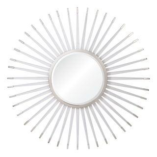 Sleeping Satellite Framed Round Mirror