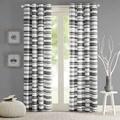 Intelligent Design Strider Cotton Stripe Printed Curtain Panel
