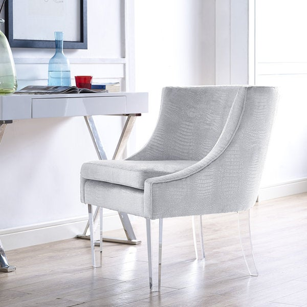 Myra Silver Croc Chair