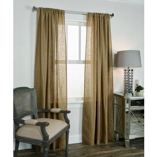 Rizzy Home Covington Collection Linen Curtain Panel