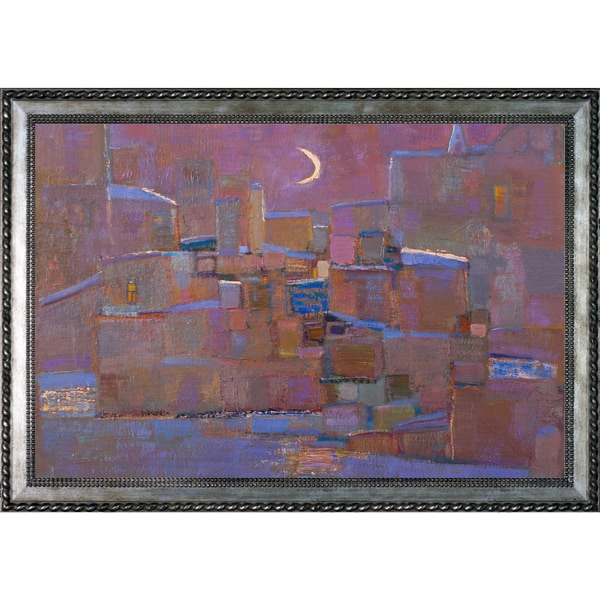 Alexey Rubanov 'Young Moon' Framed Fine Art Print