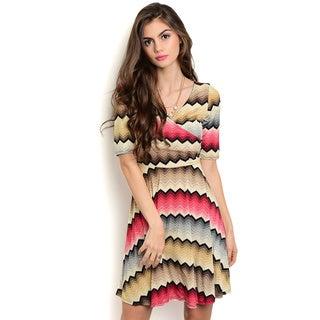 Shop the Trends Women's Short Sleeve Empire Dress