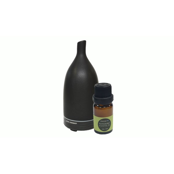 Aromatherapy Diffuser: Advanced Essential Oil Nebulizer & 10ML Sweet Peppermint Oil
