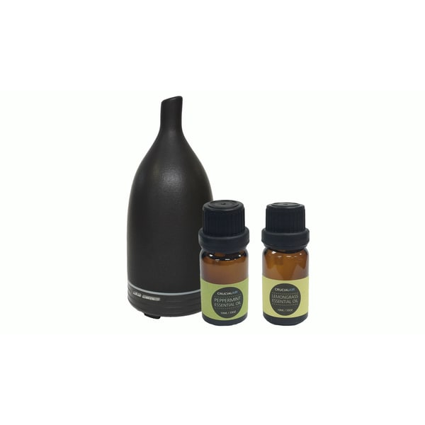 Aromatherapy Diffuser with Peppermint and Lemongrass Essential Oils