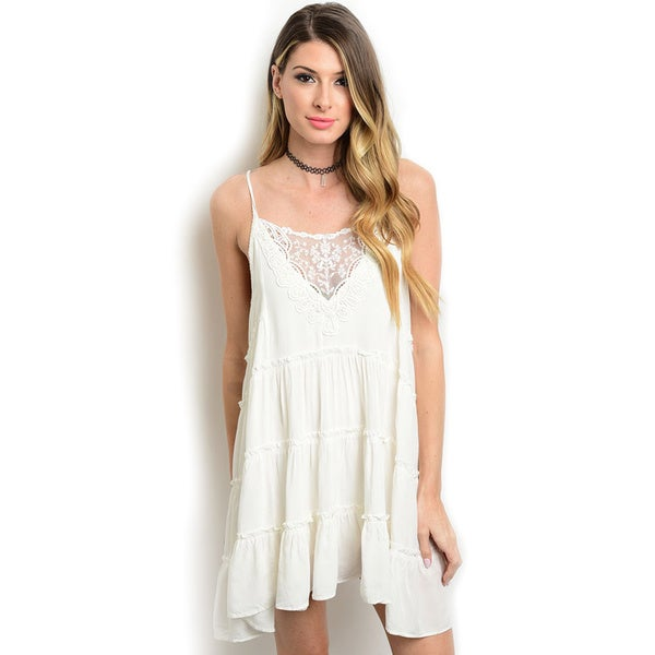 Shop the Trends Women's Spaghetti Strap Spring Dress
