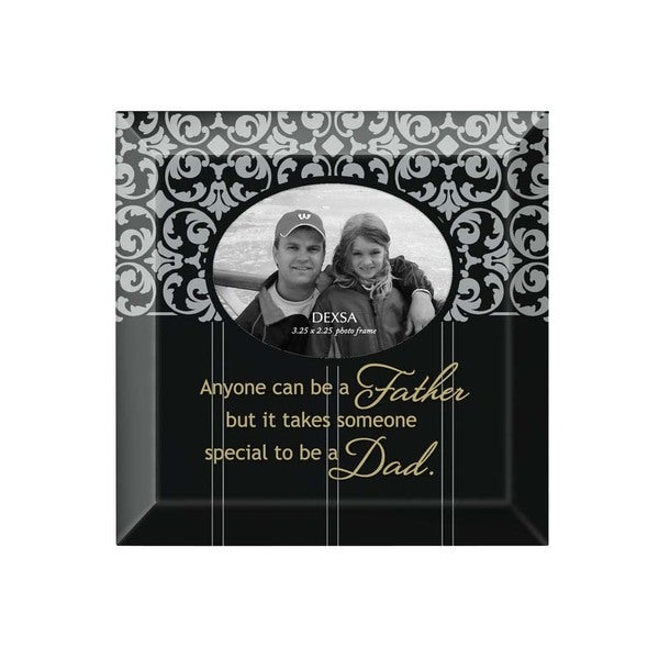 Dexsa Father - Dad Beveled Glass Photo Frame with Easel
