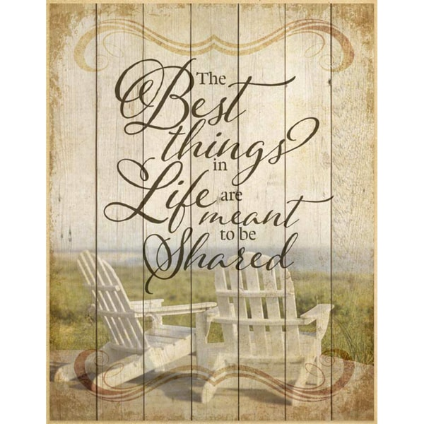 Dexsa The Best Things In Life Wood Plaque