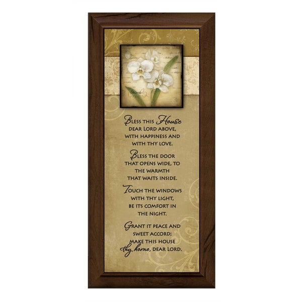 Dexsa Bless This House Wood Plaque with Easel