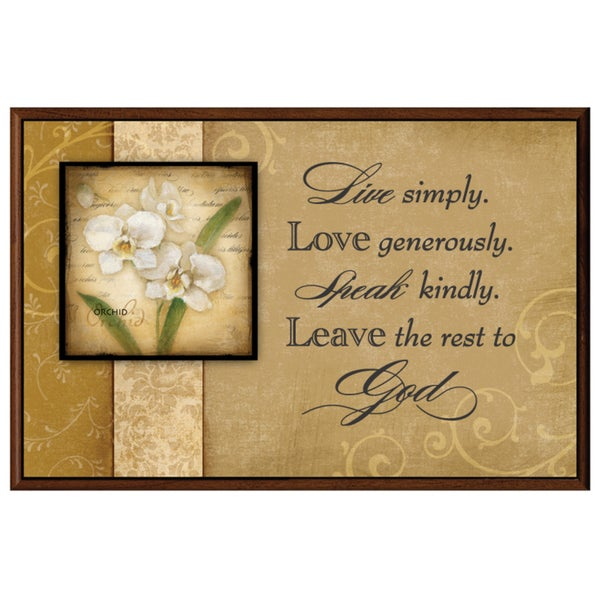 Dexsa Live, Love, Speak, Leave Wood Plaque with Easel