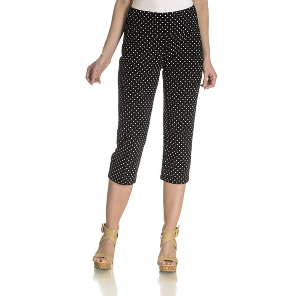 Teez Her Women's Stretch Jersey Polka-Dot Capri