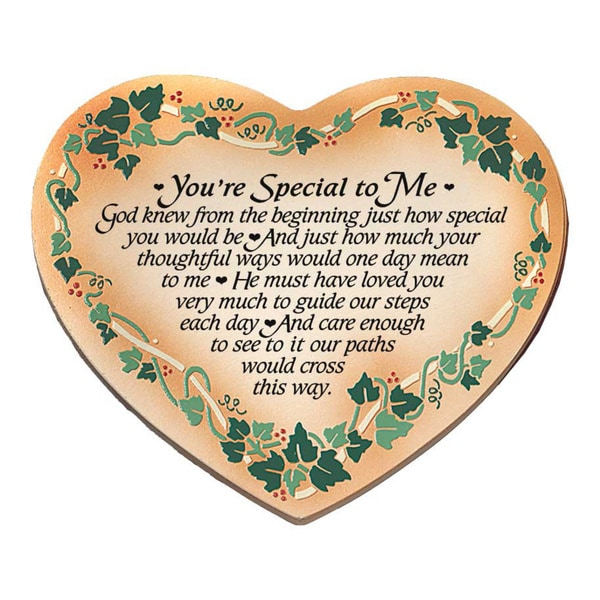 Dexsa You're Special To Me Embossed Wood Plaque with Easel