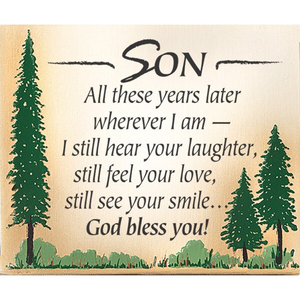 Dexsa Son, All These Years Embossed Wood Plaque with Easel