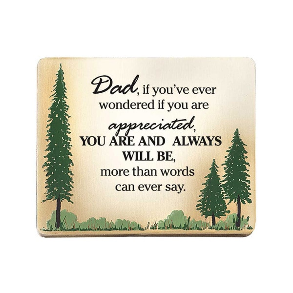 Dexsa Dad, If You've Ever Embossed Wood Plaque with Easel