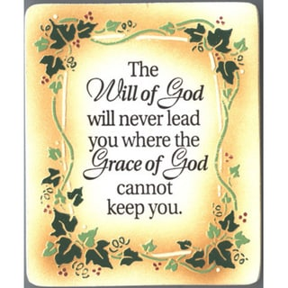 Dexsa The Will Of God Embossed Wood Plaque with Easel